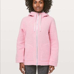 New lululemon so Sherpa hooded jacket pink